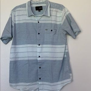 Hurley button down shirt, large